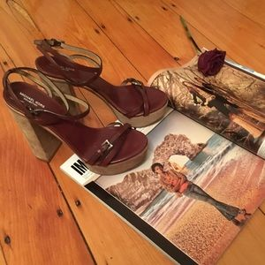 Michael Kors Collection Suede Leather Sandals 7.5