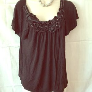 Forever 21 S/P Studded Rhinestone Beaded Top XC