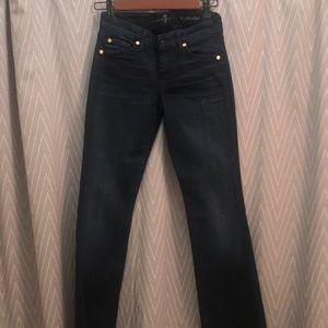 7 For All Mankind Dark Denim Bootcut Jeans