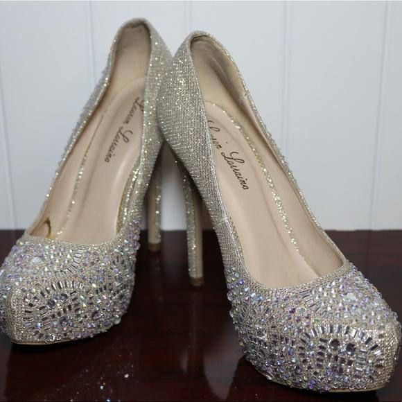 87b7190896 Lauren Lorraine Shoes - Lauren Lorraine Nude and Gold Platform size 8 1/2