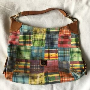 Dooney and Bourke Pastel Plaid Tote