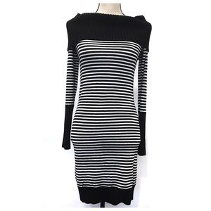 {BCBG MaxAzria} Black & White Sweater Dress, Small