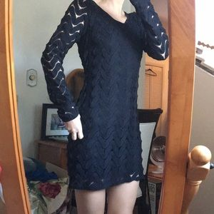 Free People Black Crochet Dress