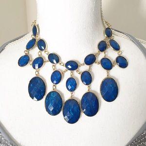 Beautiful vibrant royal blue sparkle necklace