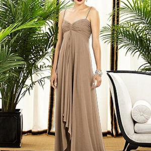 Dessy 2883...Full length Dress..Cappuccino..Sz 00L