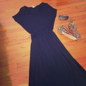 H&M black t-shirt maxi dress