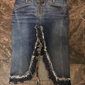 Just Cavalli women's denim skirt sz 38