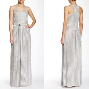 Tart Henley Maxi Dress Black White Snake Stripe
