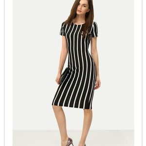 NWT Black & White Stripe Dress