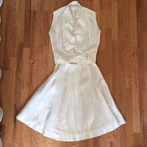 Vintage Wedding Skirt and Blouse
