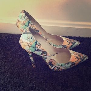 Jeffery Campbell cartoon high heels