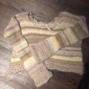 Freepeople Chunky Cropped Sweater