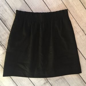 J.Crew Women's Black Skirt, PaperBag Waist, Size 0