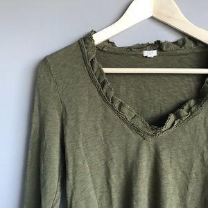 J.Crew 3/4 sleeve shirt