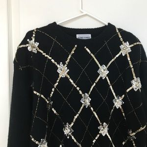 Festive Sequined Pretty Ugly Christmas Sweater
