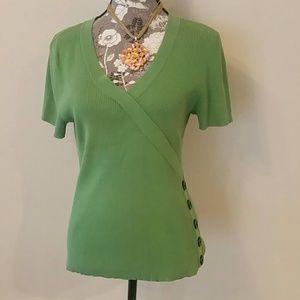 Green Knit shirt Sz L