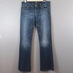 7FAM   copper stitch boot cut jeans
