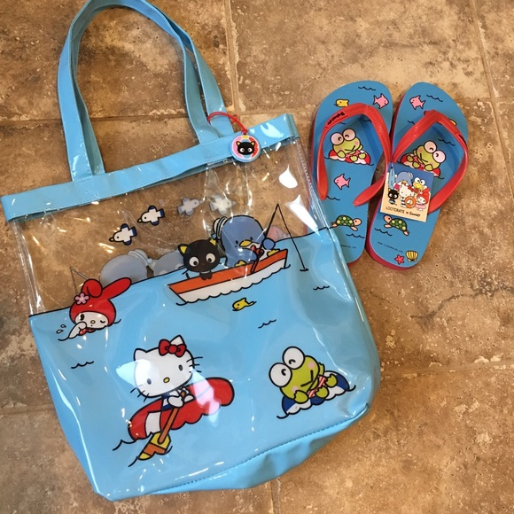 f35e1e4c03c76 Hello Kitty Loot Crate Totebag   Flip Flops