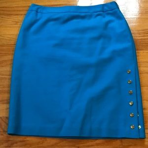 Blue stretch size 10p skirt with belt