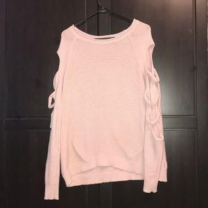 Dusty rose express sweater with arm slits