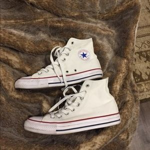 Women's High Top Converse White