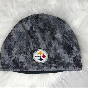 Reebok Steelers black and gray techno camo hat