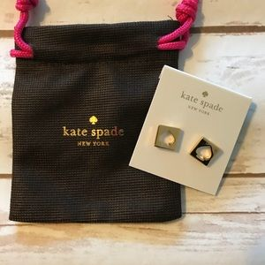 Kate Spade gold hole punch spade studs