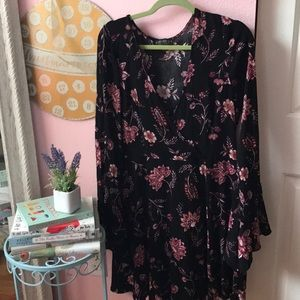 Plus Size Holiday Floral Dress