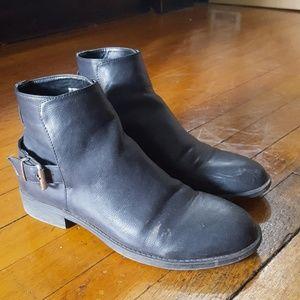 Buckle moto boots