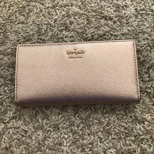 NWOT Rose Gold Kate Spade Wallet