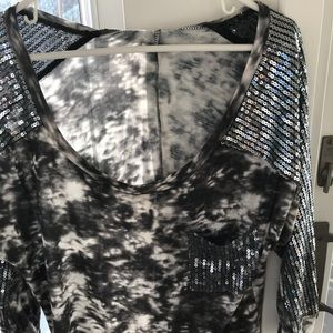 Day trip XL long shirt with sequins