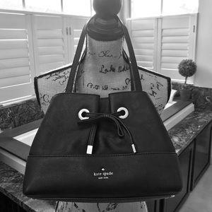 EUC Black Leather Kate Spade Bag