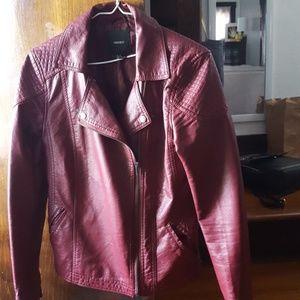 Super cool wine color moto jacket