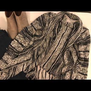 Used Xhiliration cardigan black+white size M
