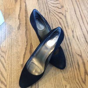 Calvin Klein black suede pumps
