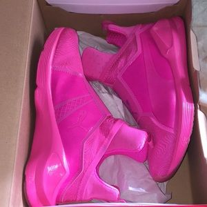Bright Pink Puma Sneakers