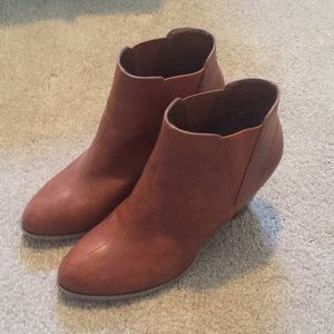 Brown Bamboo ankle bootie
