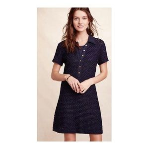 Anthropologie Diamond Knit Shirtdress