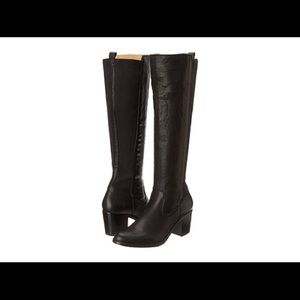 Frye Gore paneled boots.