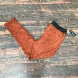 INC Burnt Orange Faux Suede Skinnies, NWT, Size 14
