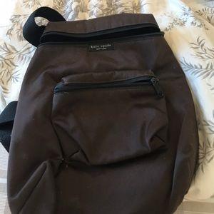 Kate spade brown backpack