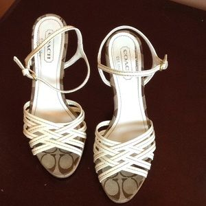 Coach Stephany patent leather sandals