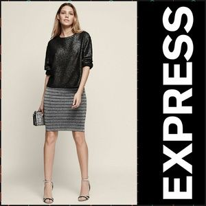 Express Metallic Pencil Skirt.