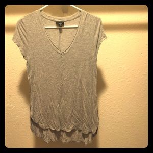 Lightweight grey cotton tunic