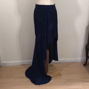 Young Fabulous & Broke Tye-Dyed Asymmetrical Skirt