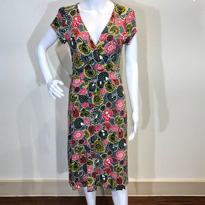 BODEN Casual Jersey Dress, Floral Print 10R