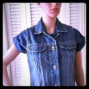 VINTAGE🌺Rare! 💐Incredible Denim Vest!🌺EUC!