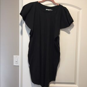 Black dress From UO with butterfly sleeves