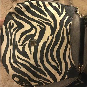 Authentic Dooney & Bourke zebra tote bag.