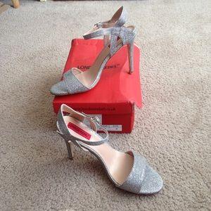 NWOT glitter heels